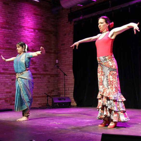 """Red Sun"" – choreography and performance by Tara Weatherly and Suchitra Sairam"